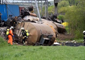 Entgleisung eines Güterzuges in Daillens, 2015