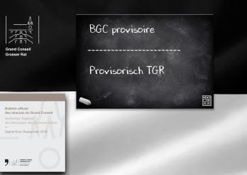 BGC Provisoire Septembre 2018 | Provisorisch TGR 2018
