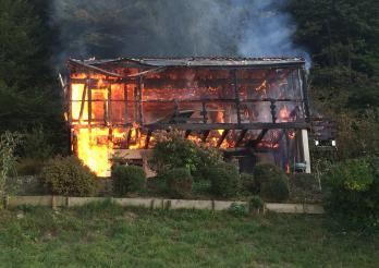 Incendie chalet à Cheyres