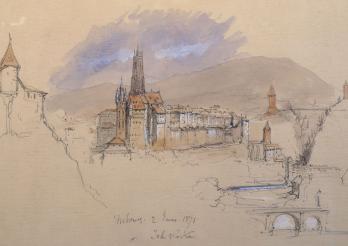 John Ruskin, Vue de Fribourg, 1871