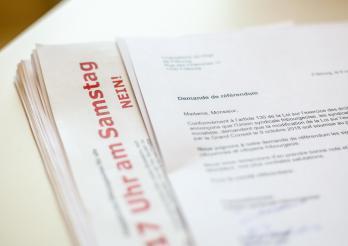 La demande de référendum contre la loi sur l'exercice du commerce