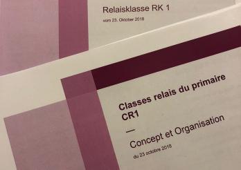 couverture de la brochure concernant les Classe relais - Relaisklasse