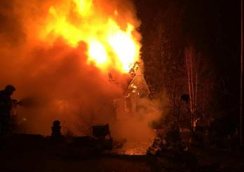 Brand eines Hauses in Plasselb