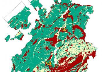 Carte d'admissibilité des sondes géothermiques verticales