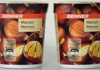 Yogourt aux marrons distribué par Denner
