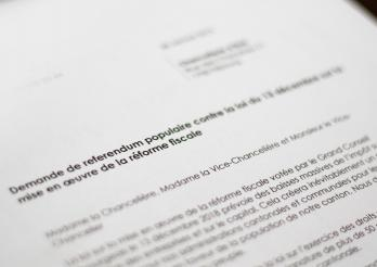 Demande de référendum contre la loi sur la mise en œuvre de la réforme fiscale