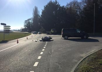 Un motard grièvement blessé à Vallon