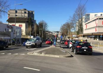 accident impliquant cinq véhicules
