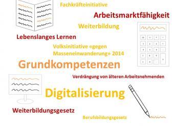 Basiskompetenzen: Lesen, Schreiben, Rechnen et IKT.