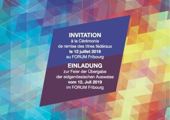 Invitation à la cérémonie de remise des titres fédéraux