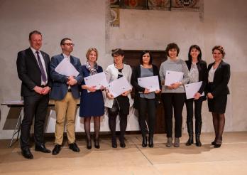 Une partie des lauréats et lauréates du canton de Fribourg