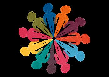 Ronde de personnages dessinés en couleur