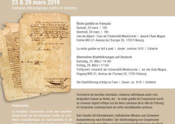 Visite guidée thématique: Sur les traces du colonialisme à Fribourg