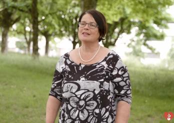 Anne-Claude Demierre setzt sich für die Organspende ein