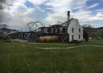 Brand eines Bauernhauses in Alterswil