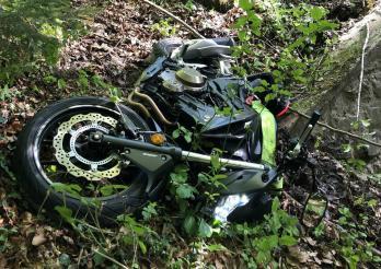 Motocycliste grièvement blessée à Promasens