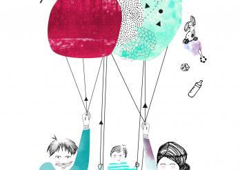 Illustration Familie Schaukel