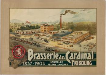 Brasserie du Cardinal, 1905. Kantons- und Universitätsbibliothek Freiburg. Plakatsammlung