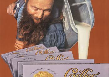Cailler, chocolat au lait des Alpes suisses. BCU, Collection d'affiches