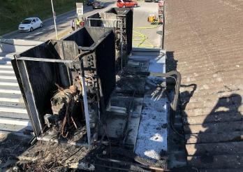 Incendie climatiseurs Romont