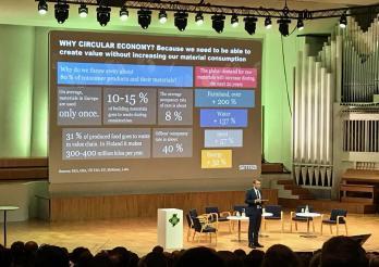 Daniel Kaufmann, spécialiste de l'économie circulaire, Helsinki