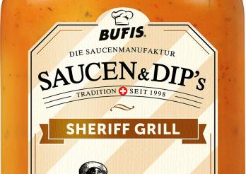 la photo représente le flacon de sauce Sheriff Grill