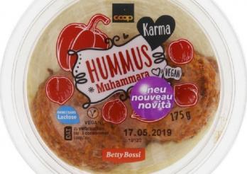 la photo montre le pot de Hummus contenant des allergènes non déclarés