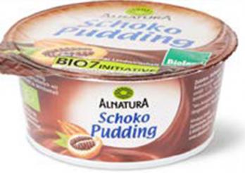 L'image montre un pot de pudding au chocolat