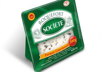 la photo montre l'emballage de Roquefort concerné par le rappel
