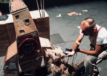 photo du spectacle intitulé Laïka, le chien de l'espace