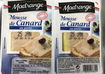 das foto zeigt den Doppelpack Mousse de canard au porto
