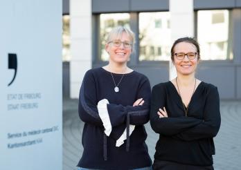 Dr. Barbara Grützmacher und Dr. Stéphanie Boichat Burdy