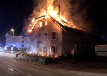 Incendie d'une maison à Vallon
