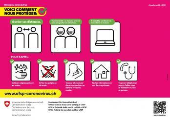 Affiche « Nouveau coronavirus : Voici comment nous protéger » © Tous droits réservés