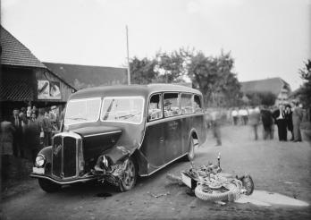 Verkehrsunfall - Fotoaufnahme der Freiburger Polizei