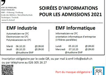 Soirée d'information admissions 2021