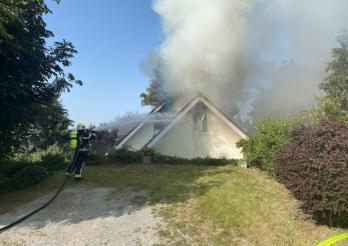 Incendie d'une maison à Esmonts / Brand eines Wohnhauses in Esmonts