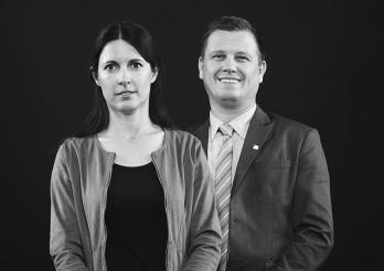 Vizekanzlerin und Vizekanzler : Sophie Perrier und Marc Valloton