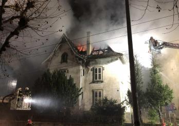Incendie d'un bâtiment inhabité en ville de Fribourg