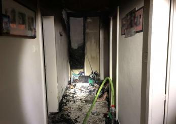 Début d'incendie dans un appartement à Morat / Brandausbruch in einer Wohnung in Murten