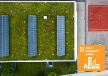 Nachhaltiges Gebäude.