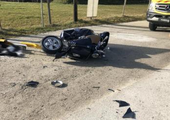 Un scootériste gravement blessé lors d'un accident de la circulation à Villarvolard/Ein Motorroller-Fahrer wird bei einem Verkehrsunfall schwer verletzt in Villarvolard