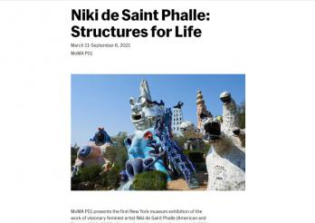 Exposition Structures for life, Niki de Saint Phalle MOMA