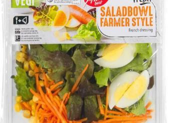 Das Foto zeigt eine Packung Saladbowl Farmer Style