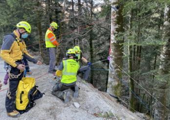 Sauvetage de trois amateurs de canyoning dans les Gorges de l'Evi à Albeuve / Canyoning-Rettung in der Evi-Schlucht bei Albeuve