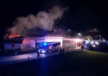 Incendie d'un local à Treyvaux