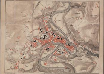 Plan de la ville de Fribourg, 1881. BCU, CAPL M-29 (Glasson 123). BCU Fribourg