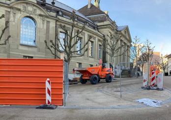 BCU Fribourg - le chantier démarre