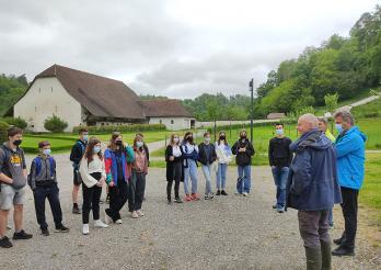 Besichtigung des Klosters von Hauterive für die Schüler/innen der OS Düdingen am 7. Juni 2021