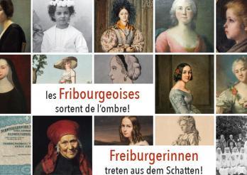Foto von der Ausstellung  Freiburgerinnen treten aus dem Schatten!